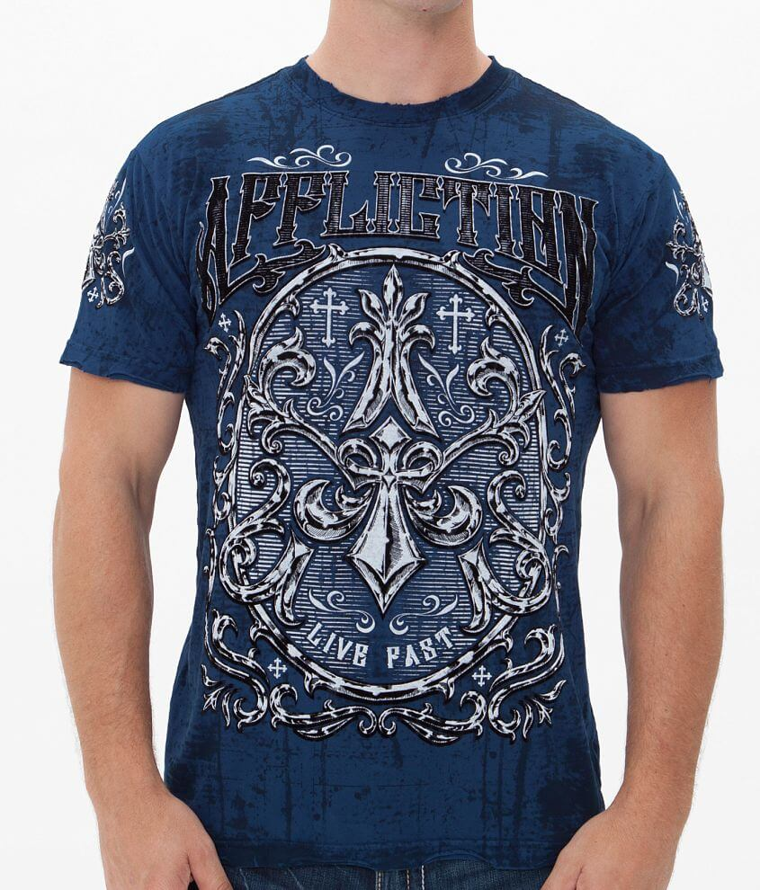 Affliction Abrasive Reversible T-Shirt front view