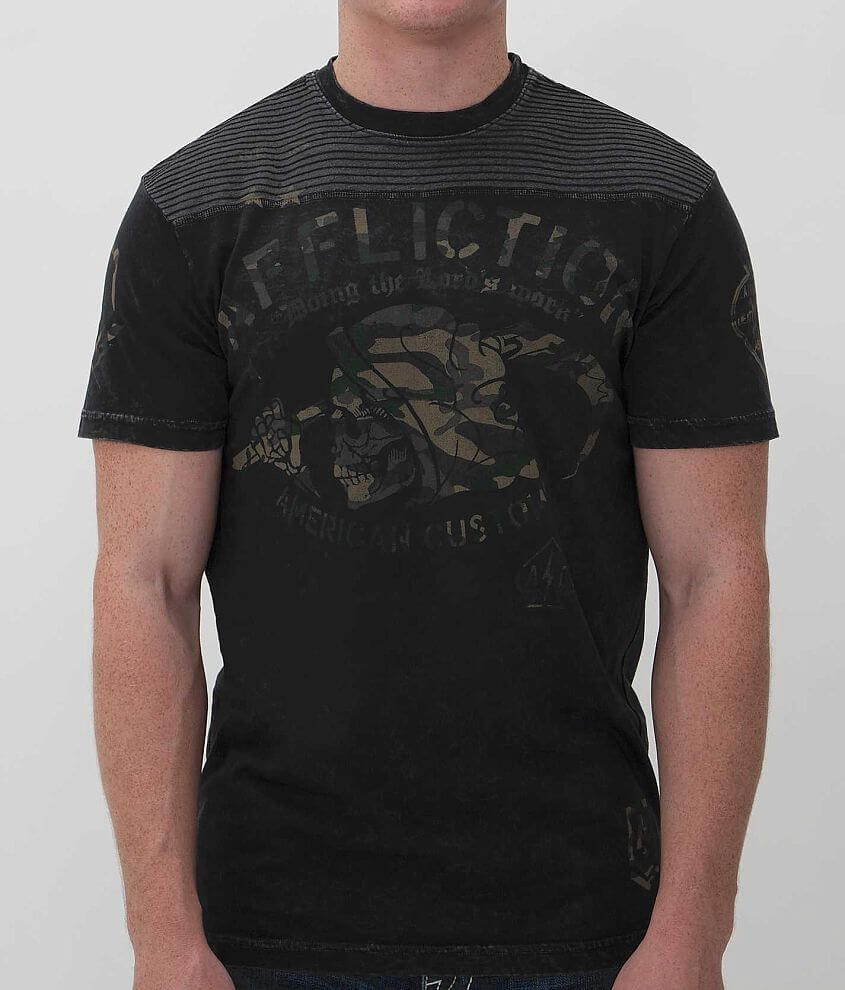 Affliction American Customs Job Security T-Shirt front view