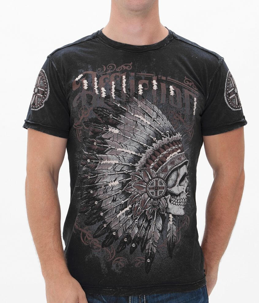 Affliction Peace Pipes T-Shirt front view