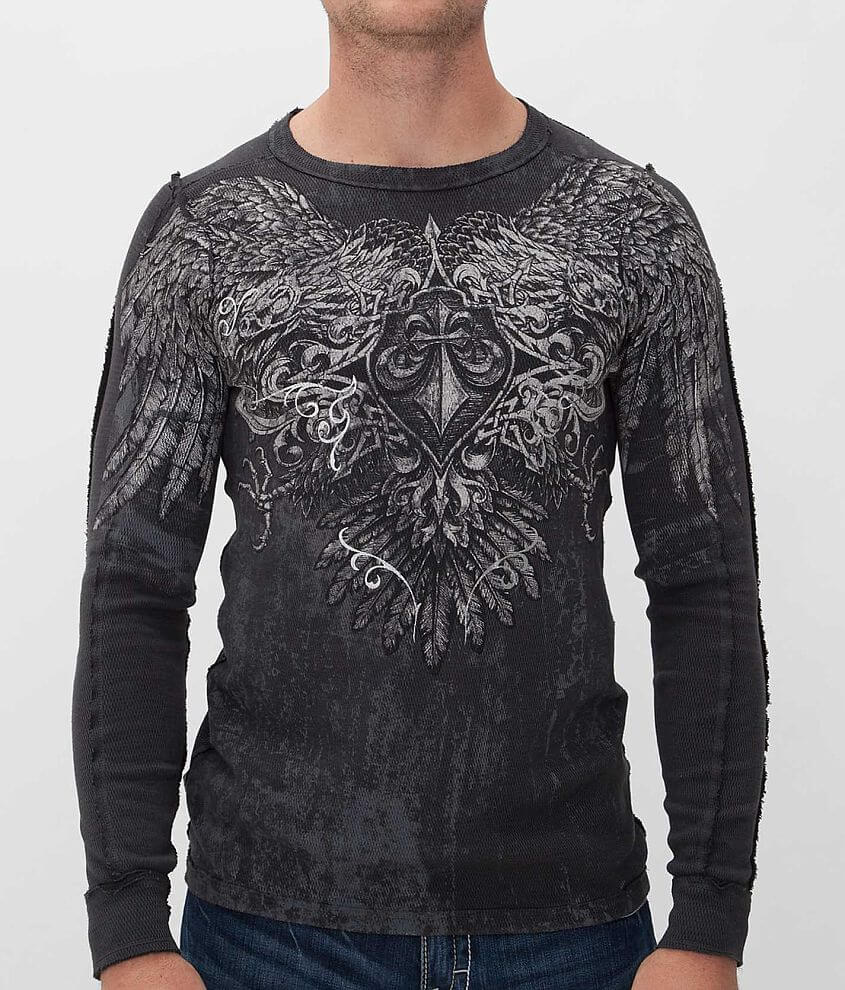 Affliction Sole Survivor Reversible Thermal Shirt front view