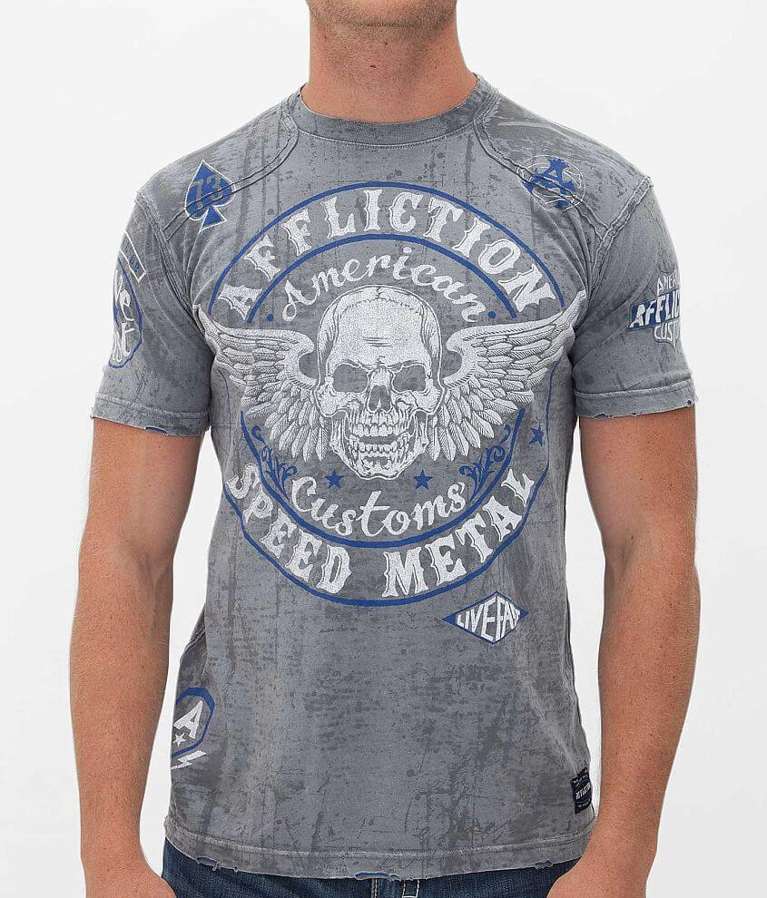Affliction American Customs Syndicate T-Shirt front view