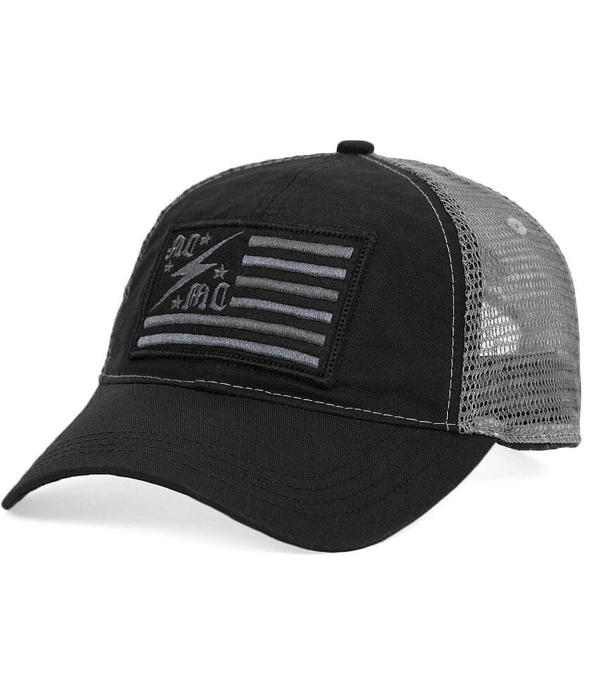Affliction American Customs Flag Trucker Hat front view