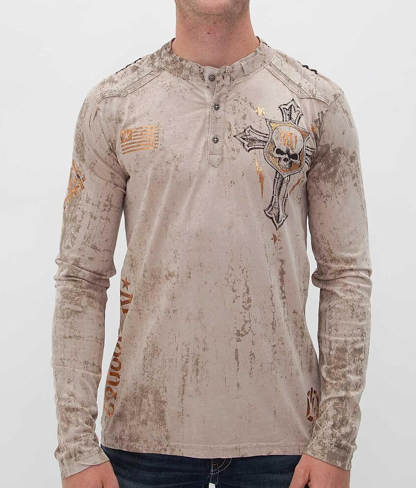 Affliction Napalm Attack Henley front view
