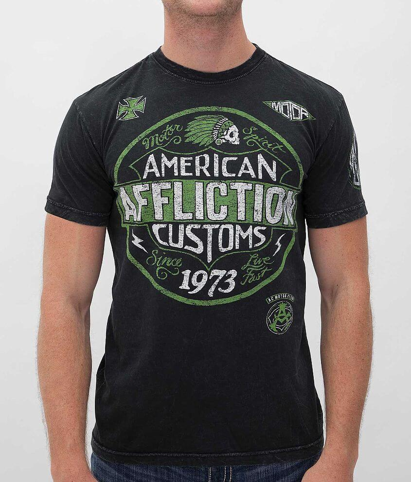Affliction American Customs Garage T-Shirt front view