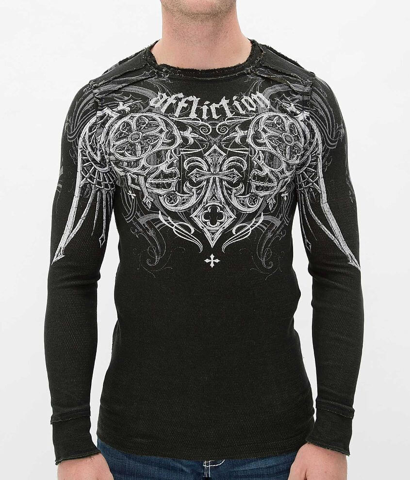 Affliction Deadly Pair Reversible Thermal Shirt front view