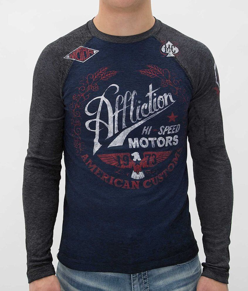 Affliction Fast Times Thermal Shirt front view