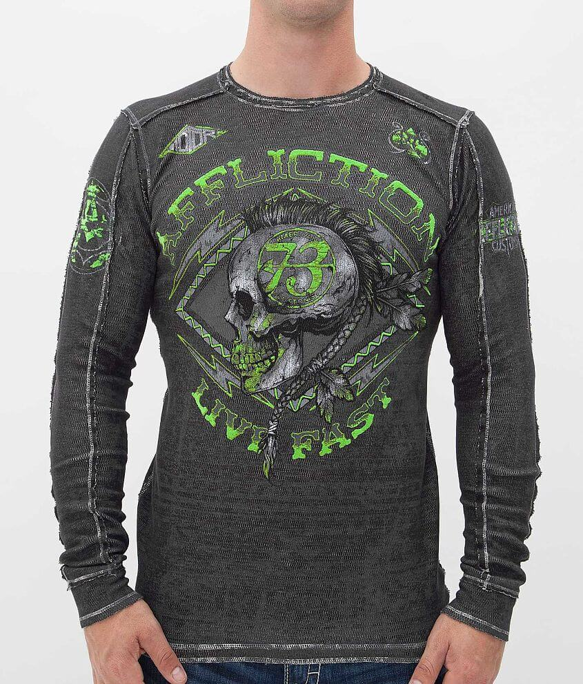 Affliction American Customs Warpath Thermal Shirt front view