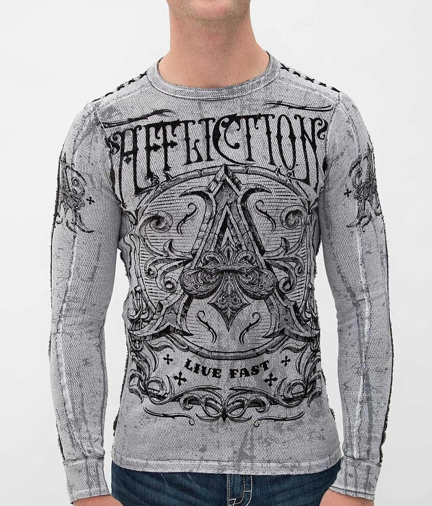 Affliction Caustic Reversible Thermal Shirt front view