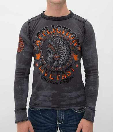 Affliction American Customs Stampede Thermal Shirt