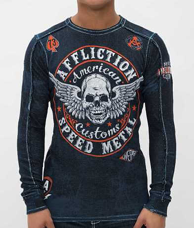 Affliction Syndicate Reversible Thermal Shirt