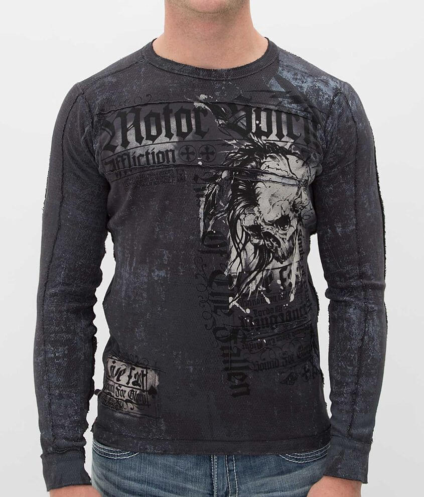 Affliction Motor Tribe Reversible Thermal Shirt front view
