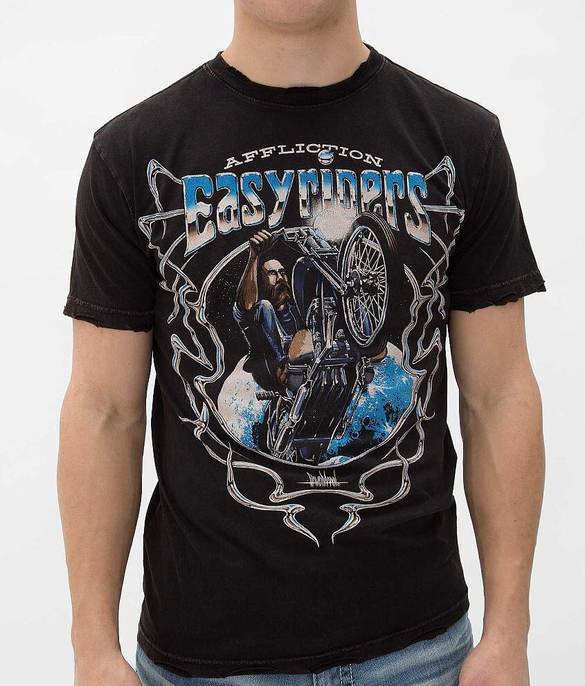 Affliction American Customs Moon Rider T-Shirt front view