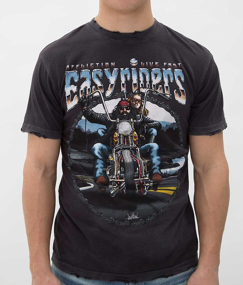 Affliction Easyriders Open Round T-Shirt front view