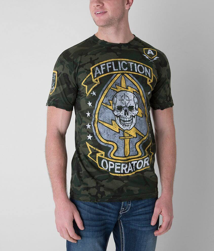 Affliction Operator Speed & Surprise T-Shirt front view