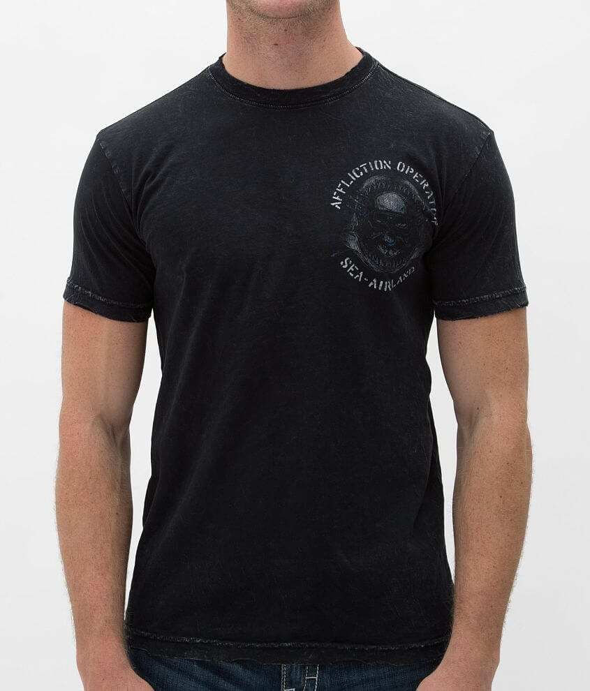 Affliction Operator Sea Air Land T-Shirt front view