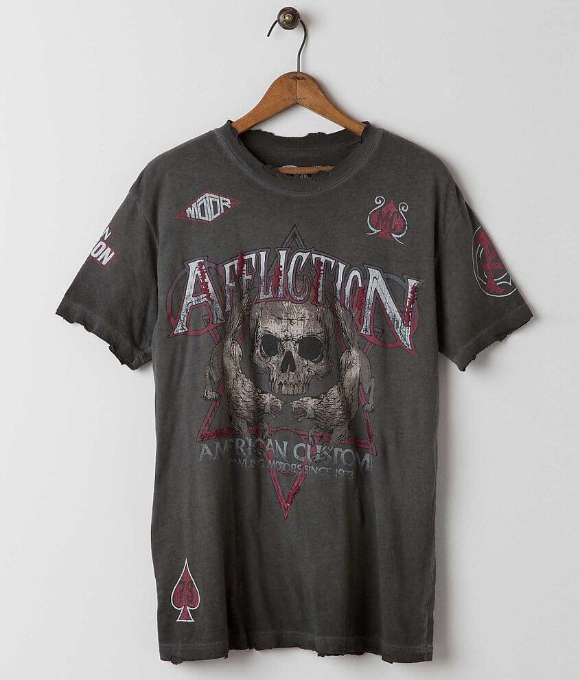 Affliction American Customs Wolfsbane T-Shirt front view