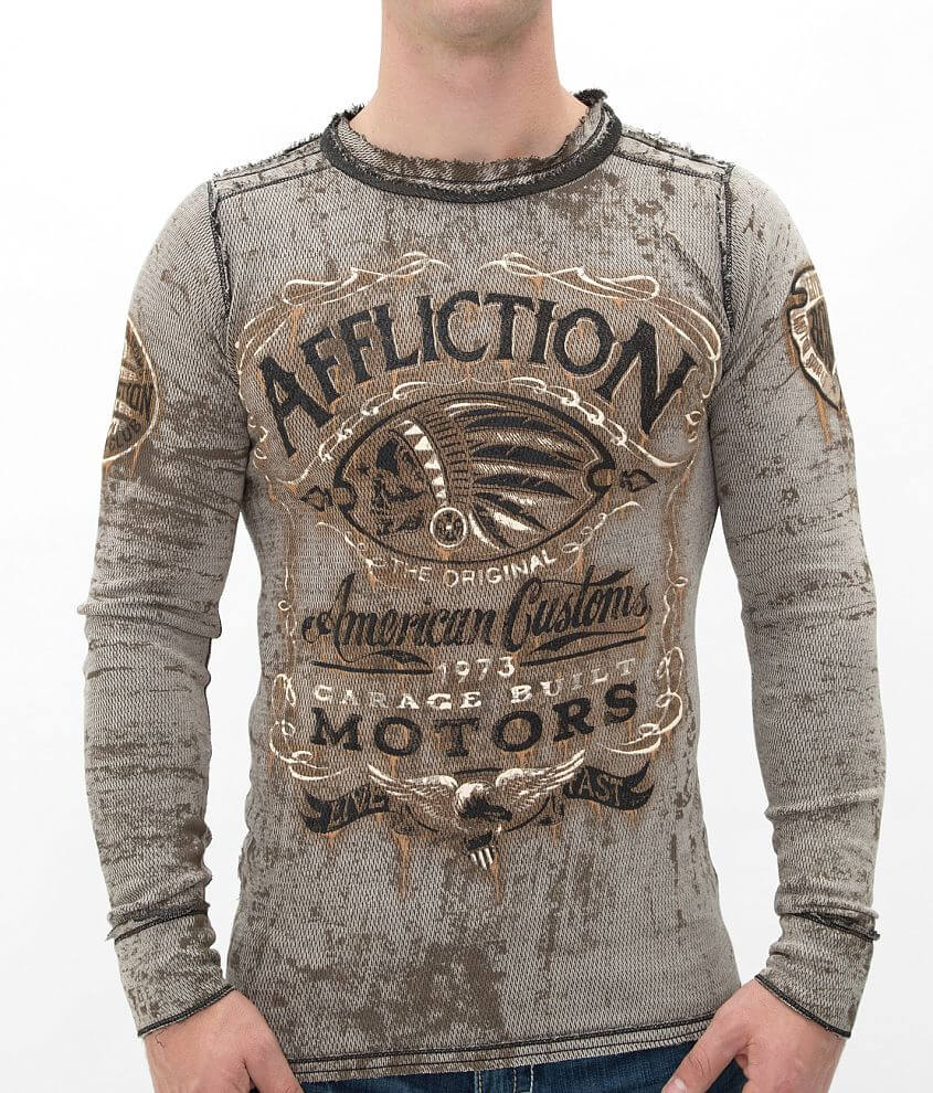 Affliction Prohibition Reversible Thermal Shirt front view
