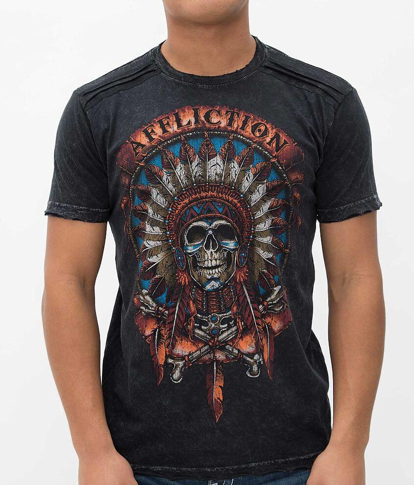 Affliction Inked Wild Buffalo T-Shirt front view