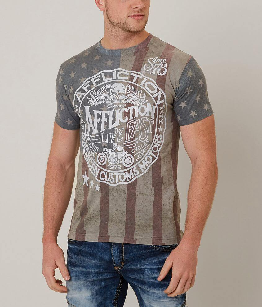 Affliction American Customs Sawmill T-Shirt front view