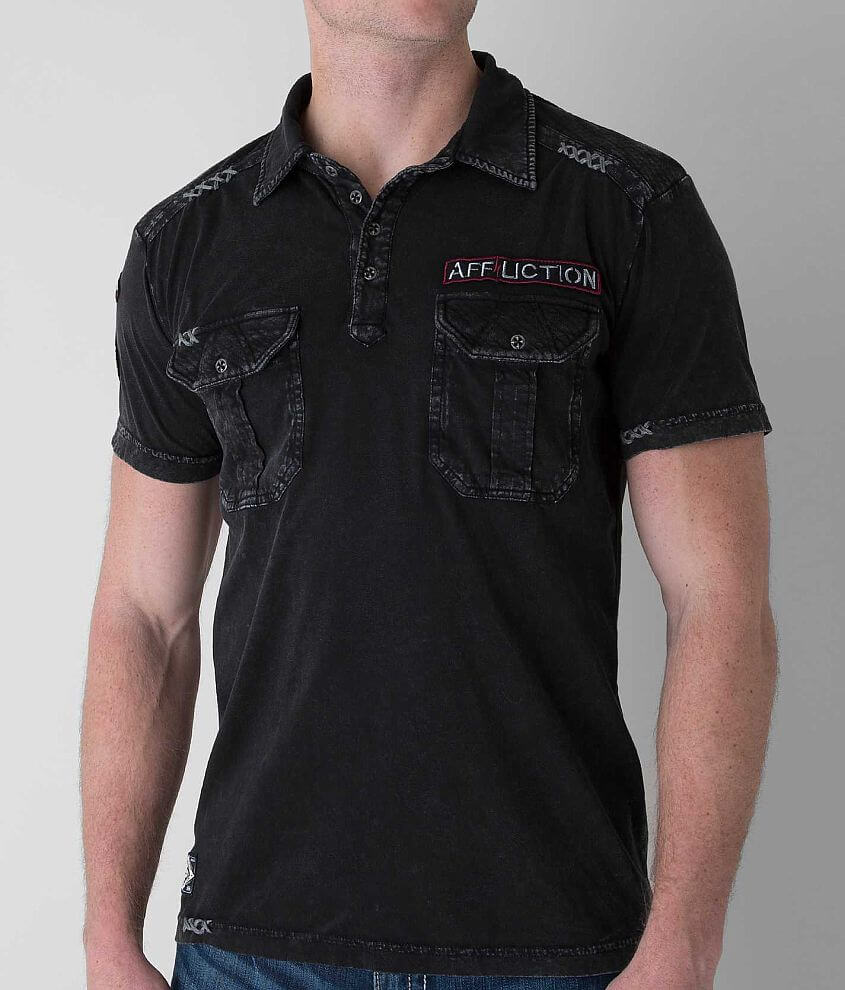 Affliction Defend Polo front view