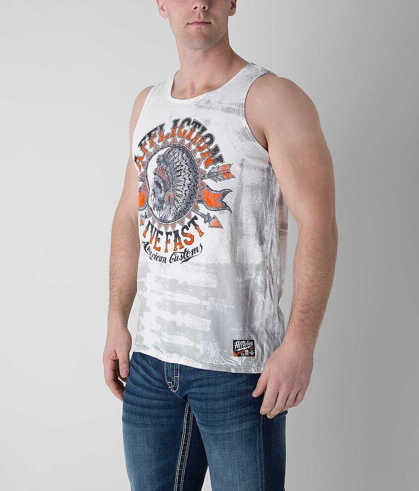 Affliction American Customs Stampede Tank Top front view