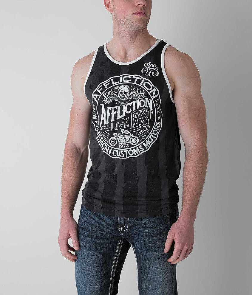 Affliction American Customs Sawmill Tank Top front view