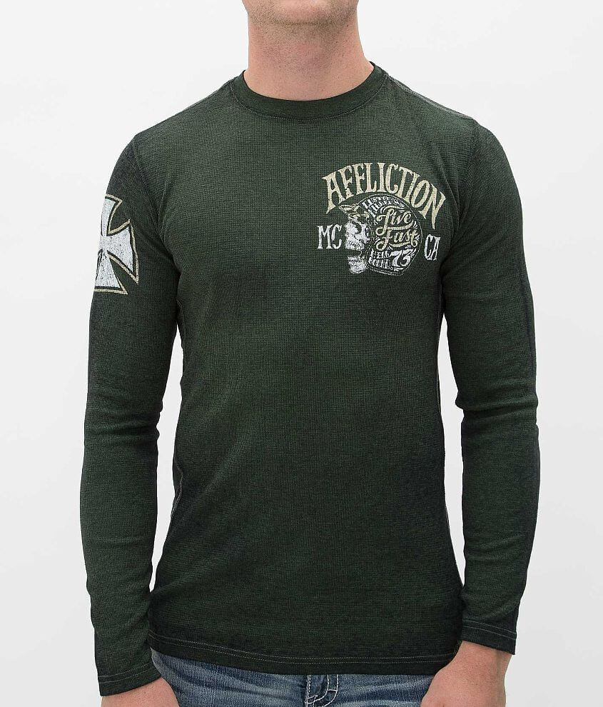 Affliction American Customs Motor Co Thermal Shirt front view