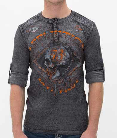 Affliction American Customs Warpath Thermal Henley