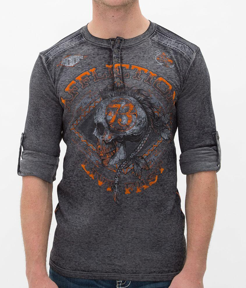 Affliction American Customs Warpath Thermal Henley front view