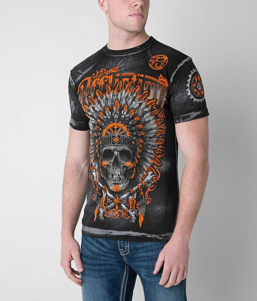 Affliction American Customs Apache T-Shirt front view
