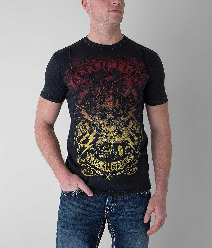Affliction Voodoo Man T-Shirt front view