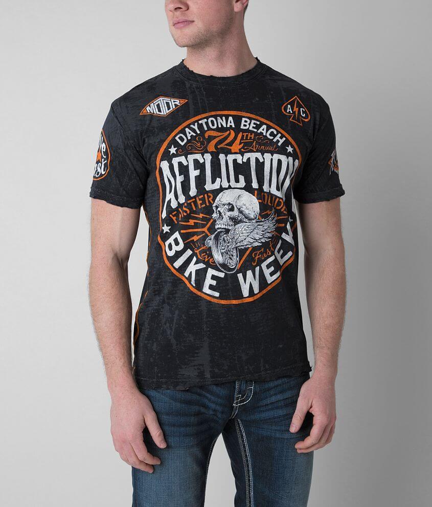 Affliction American Customs Daytona T-Shirt front view