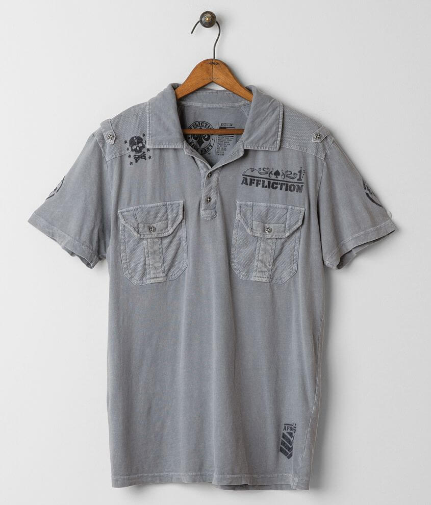 Affliction War Maker Polo front view