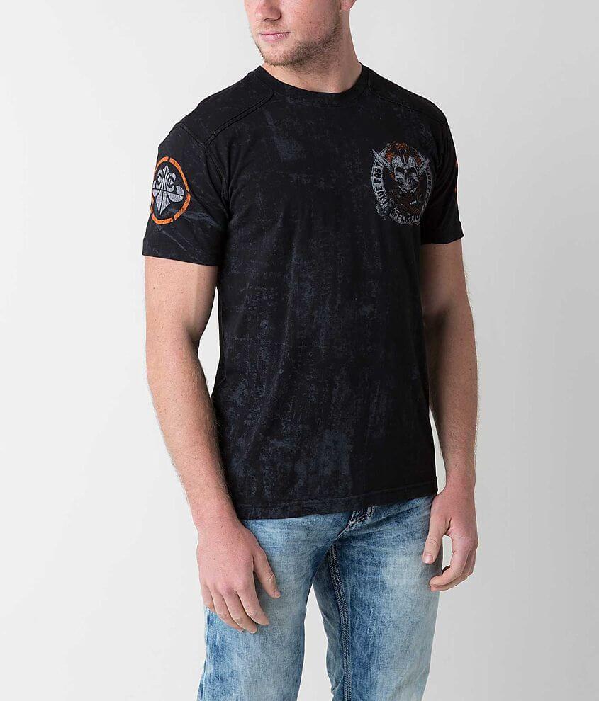 Affliction Cobra Command T-Shirt front view