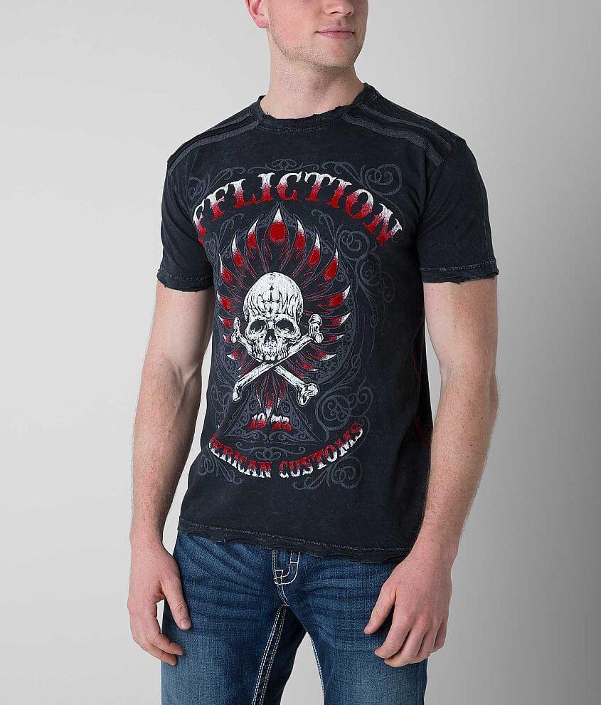 Affliction American Customs Firebird T-Shirt front view