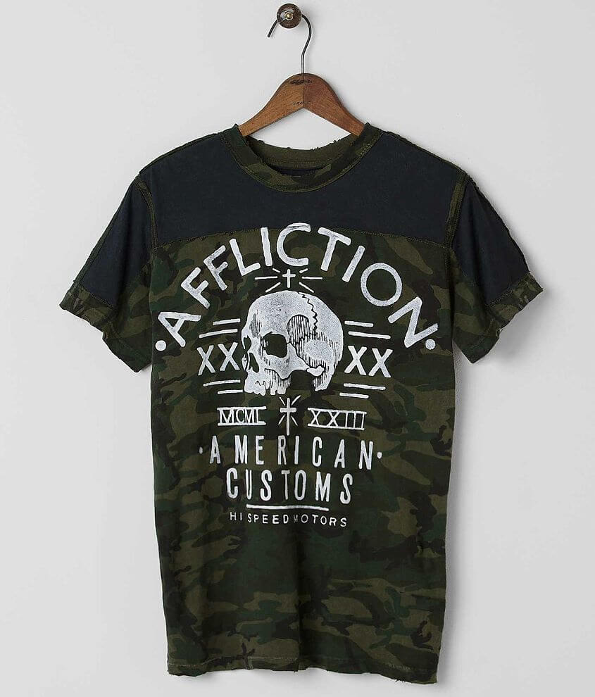 Affliction American Customs Undertaker T-Shirt front view