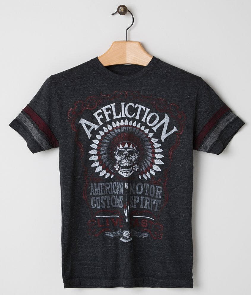 Affliction American Customs Distillery T-Shirt front view