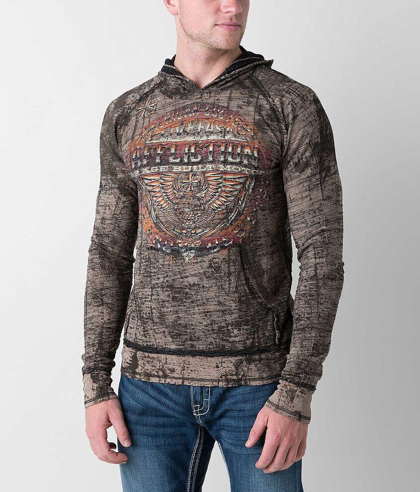Affliction Union Chrome Reversible Hoodie front view