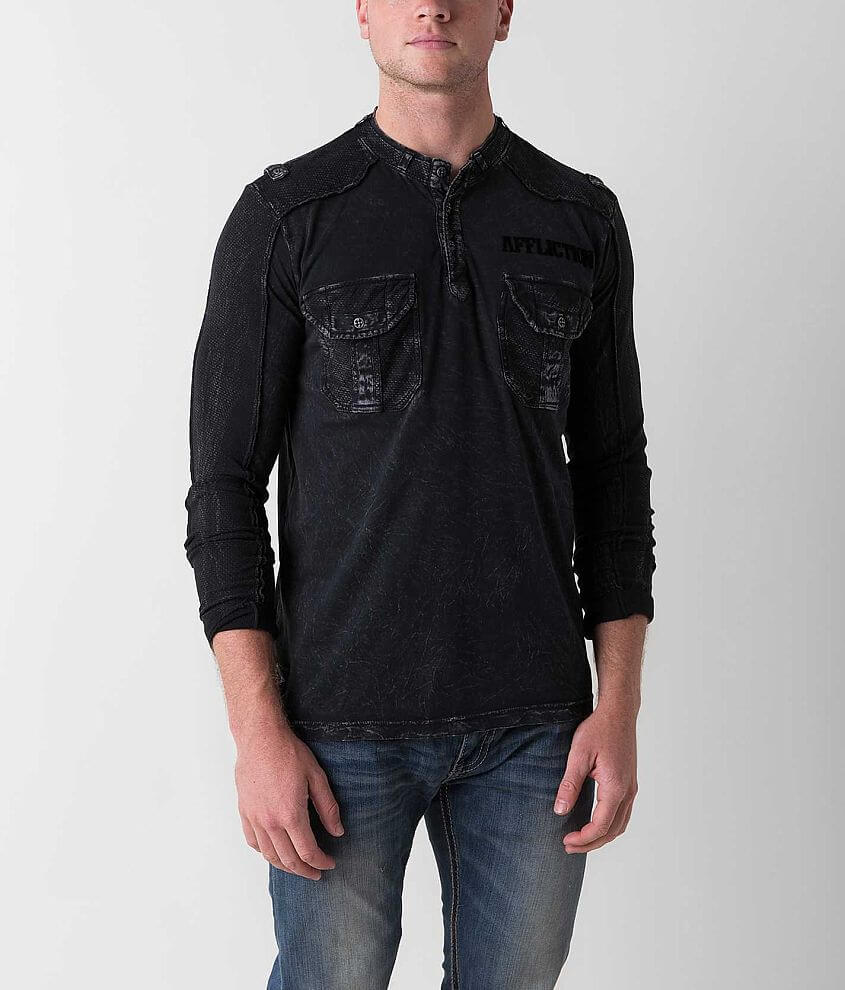 Affliction Agitator Henley front view