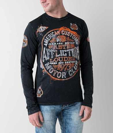 Affliction American Customs Oil Spill T-Shirt