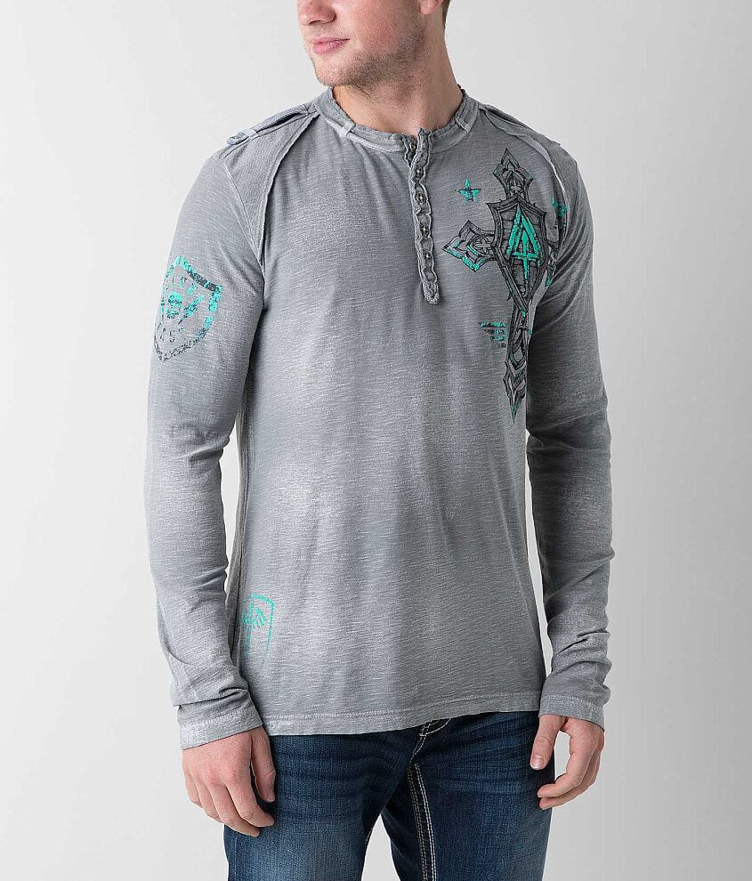 Affliction Live Fast Henley front view