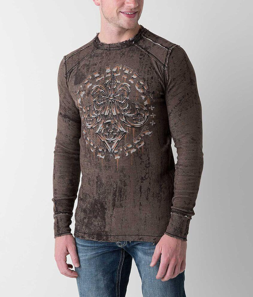 Affliction Royal Lord Reversible Thermal Shirt front view