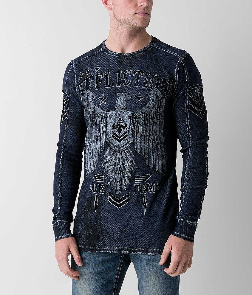 Affliction Disjointed Reversible Thermal Shirt front view