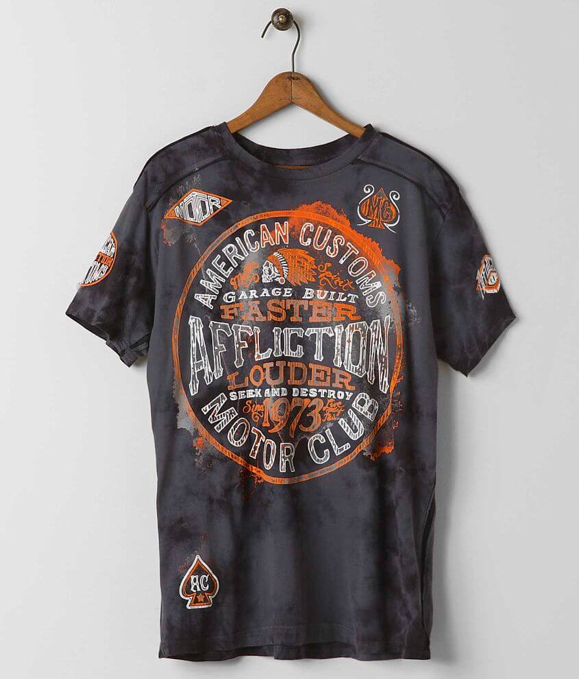 Affliction American Customs Oil Spill T-Shirt front view