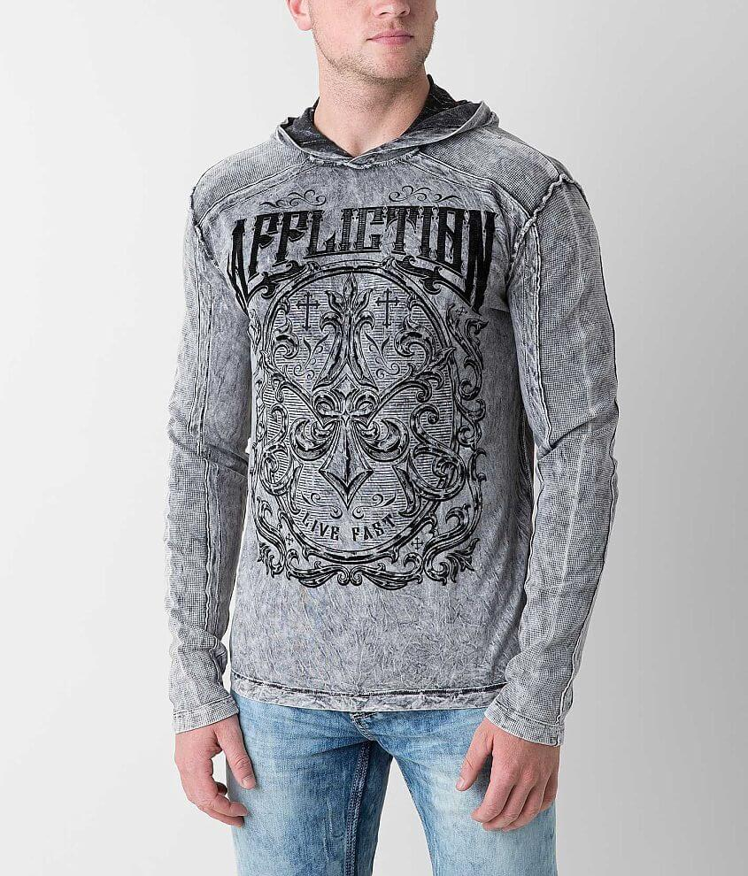 Affliction Abrasive Reversible Hoodie front view