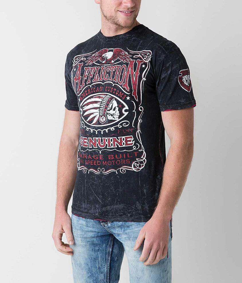 Affliction Genuine Whiskey T-Shirt front view