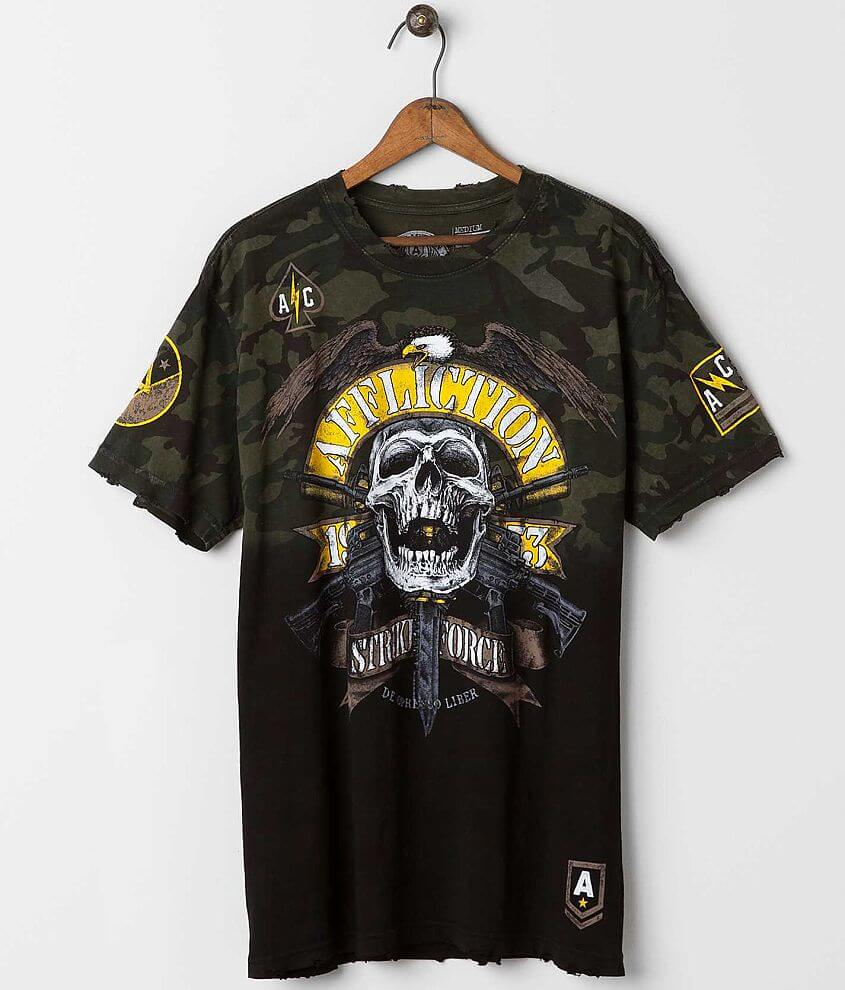 Affliction American Customs Commando T-Shirt front view