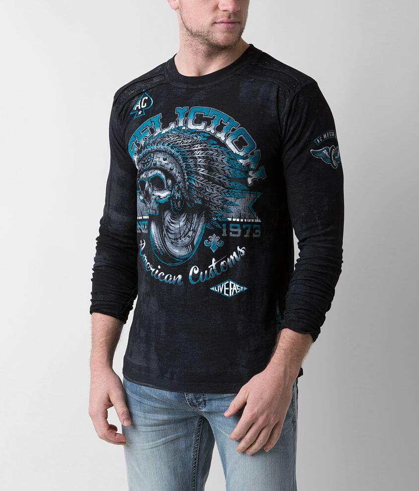 Affliction Bull Run Chrome T-Shirt front view
