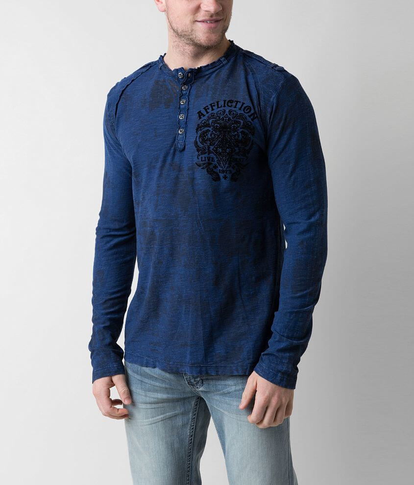 Affliction Stand Alone Henley front view