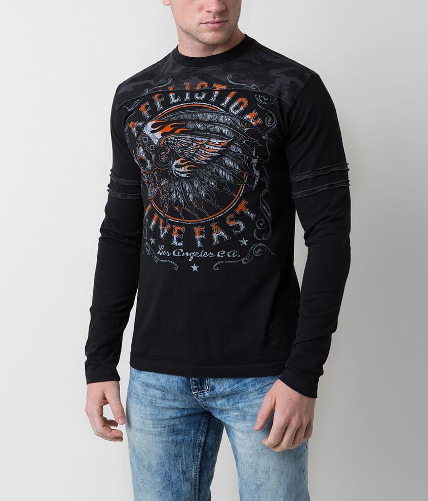 Affliction American Customs Native Muscle T-Shirt front view